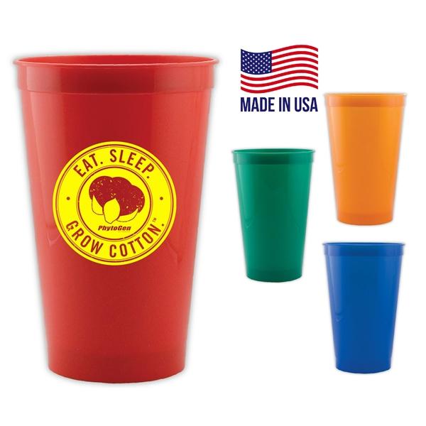 22 oz USA Stadium Cups w/ Custom Logo BPA FREE Stadium Cup