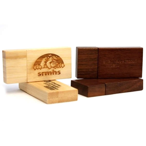 Rectangular Wooden USB Flash Drives with