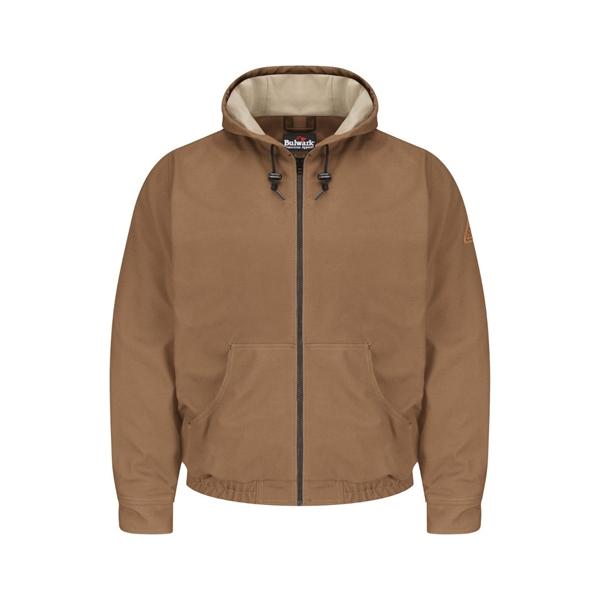 Bulwark Brown Duck Hooded Jacket - EXCEL