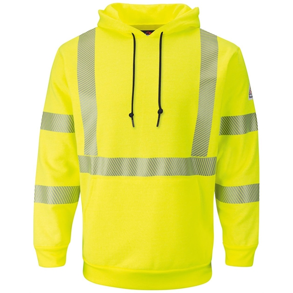 Bulwark Hi-Visibility Pullover Hooded Fl