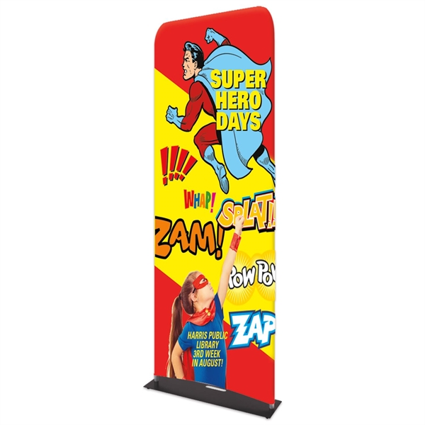"""Indoor Double Sided Banner Stand w/ Fabric Banner (25 5/8"""""""