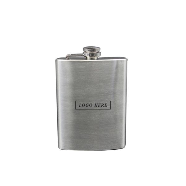 8 Oz Stainless Steel Hip Liquor Flask
