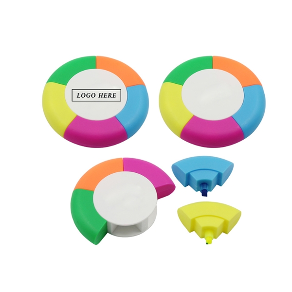 5 Color Round Shaped Highlighter