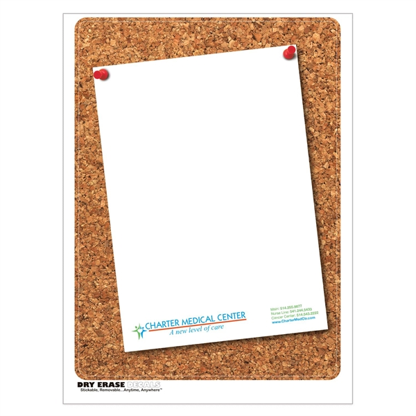 Cork Stock Art Full Color Dry Erase Decals w/ Blank Sheet