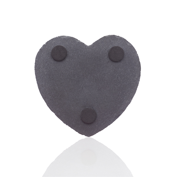 Rosetta Heart Shape Slate Coaster