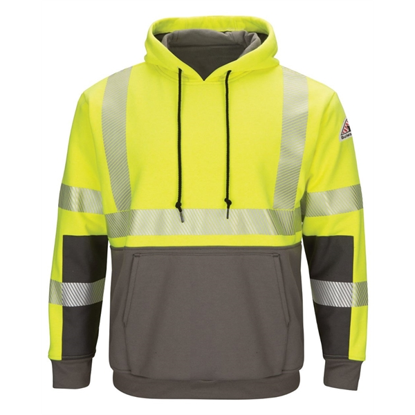 Bulwark Hi-Visibility Color-Blocked Pullover Hooded Fleec...