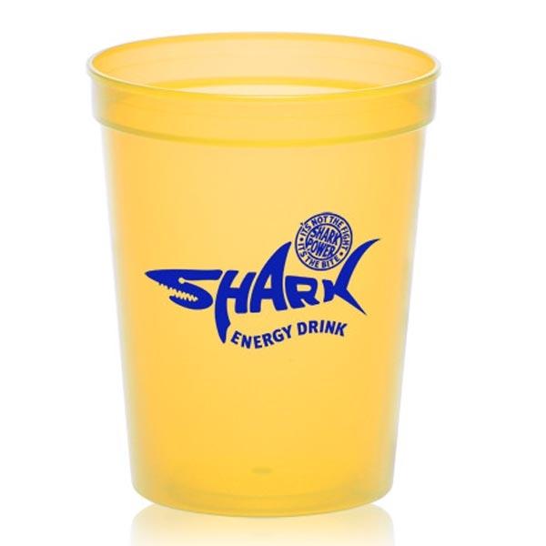 16 oz. Translucent Plastic Stadium Cup