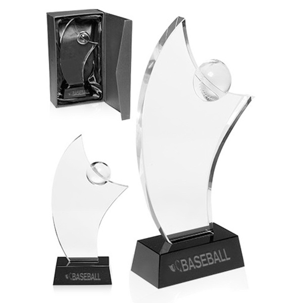 Baseball Crystal Glass Awards