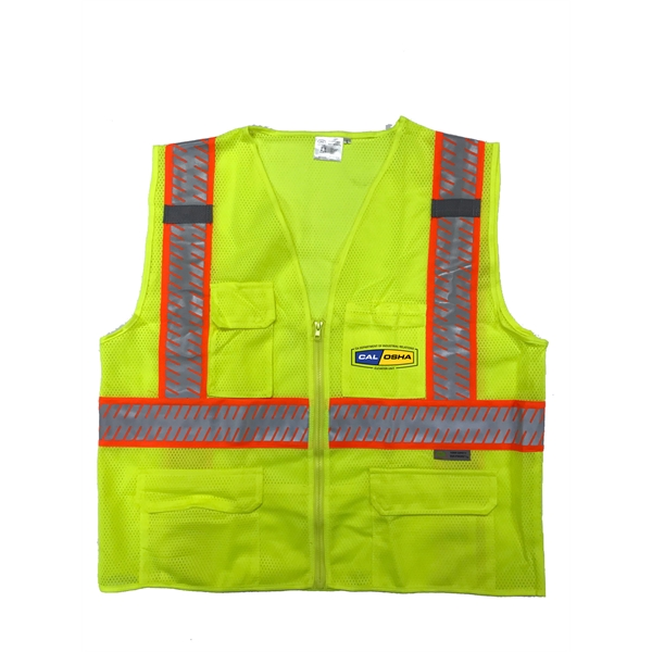 Deluxe ANSI Class 2 2-Tone Safety Vest with segmented tape