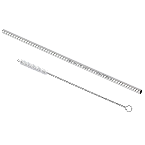 Stainless Steel Straw with Pipe Cleaner Brush
