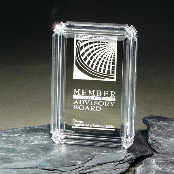 Clear Diamond Carved Desk Award
