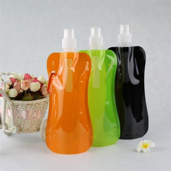 16 Oz. BPA-Free Foldable and Reusable Water Bottle ( 480ML )