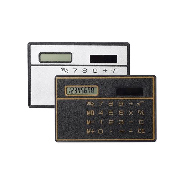 Pocket Calculator Slim Credit Card Cheap Solar Power Pocket