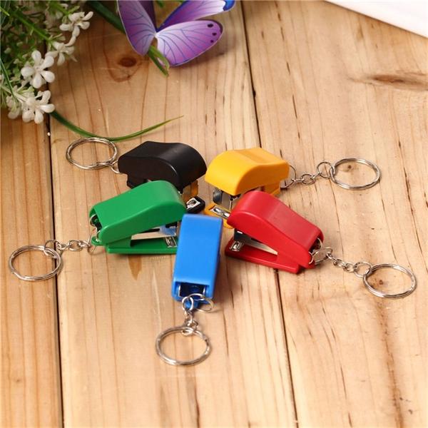 Mini Key Chain Plastic Stapler