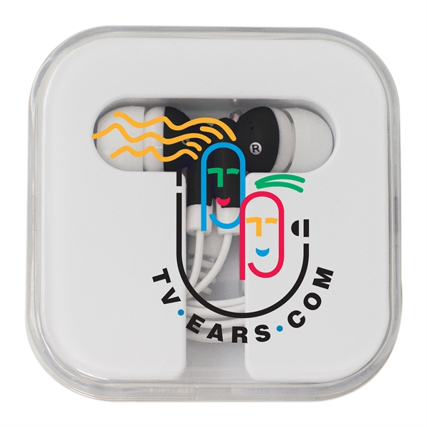 Earbuds with Square Case