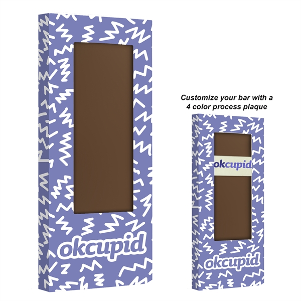 Belgian Chocolate Bar With No Topping - 3.5 oz