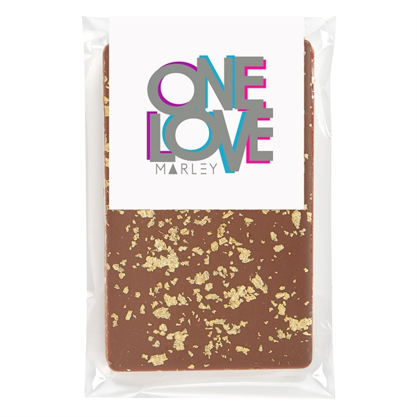 Belgian Chocolate Bars - 23K Gold Flakes - 1 oz