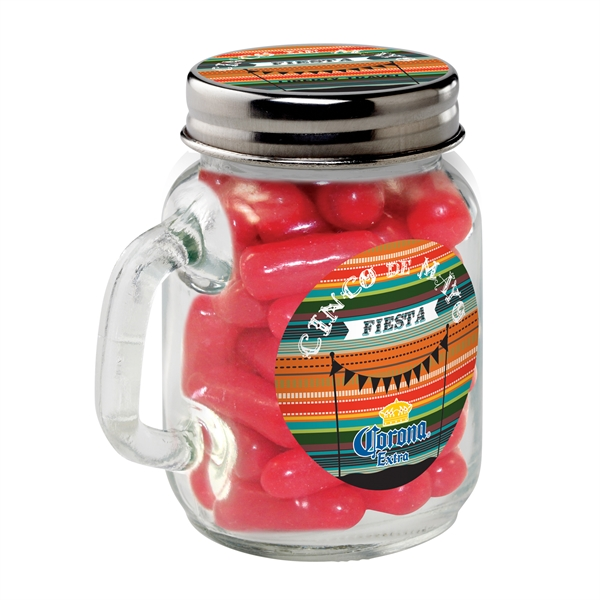 Cinco de Mayo Glass Mason Jar