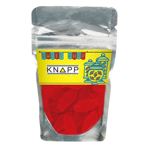 Resealable Clear Pouch With Swedish Fish® - Small Red