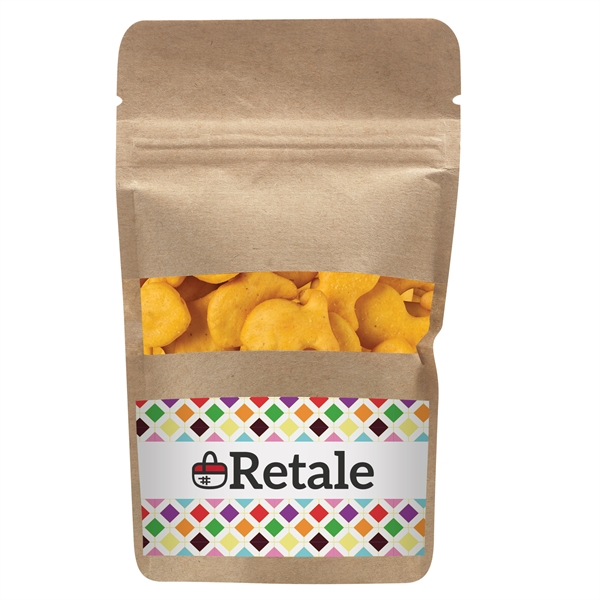 Resealable Kraft Window Pouch With Goldfish® Crackers