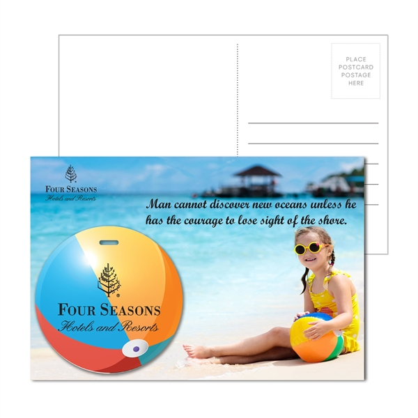 Post Card with Full Color Beach Ball Lug