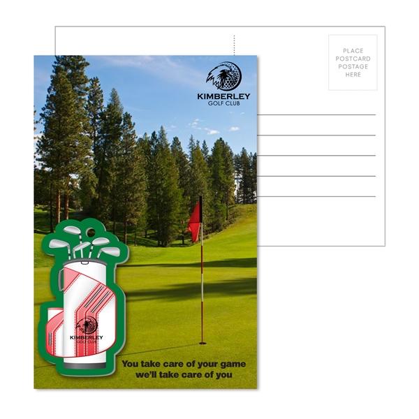 Post Card with Full Color Golf Bag Lugga