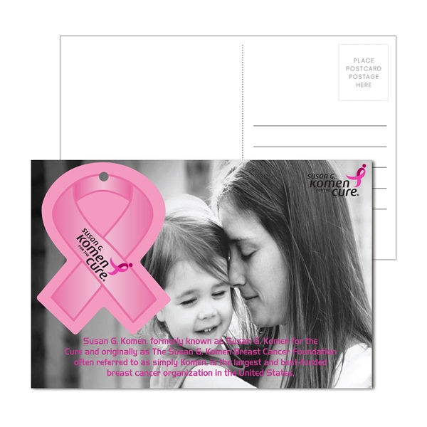 Post Card with Full Color Awareness Ribb