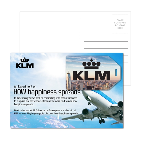 Post Card with Full Color Hang Tag Shape