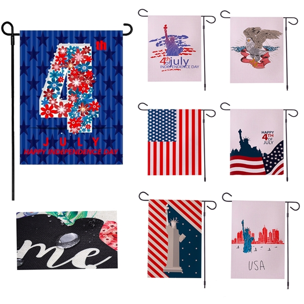 Happy Independence Day Double Sided Garden Flag