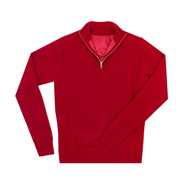 Women's MERINO Wind Block Lined Half-Zip Sweater