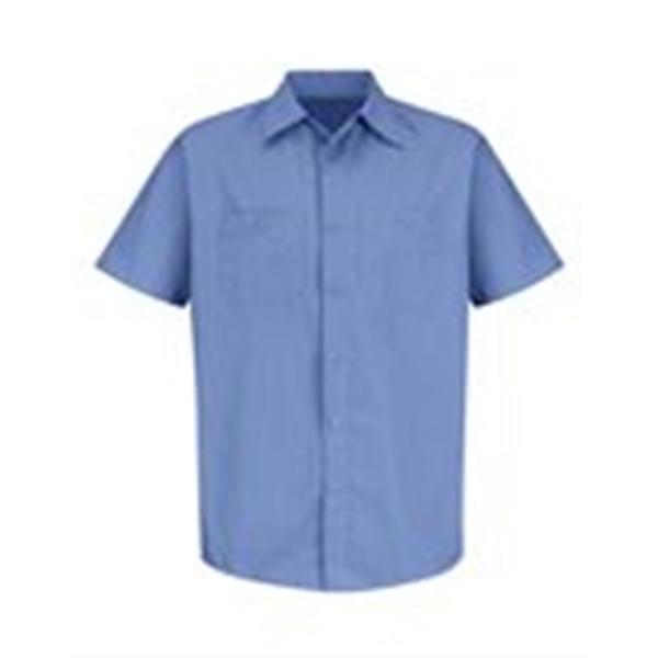 Red Kap Industrial Stripe Short Sleeve Work Shirt Long Sizes