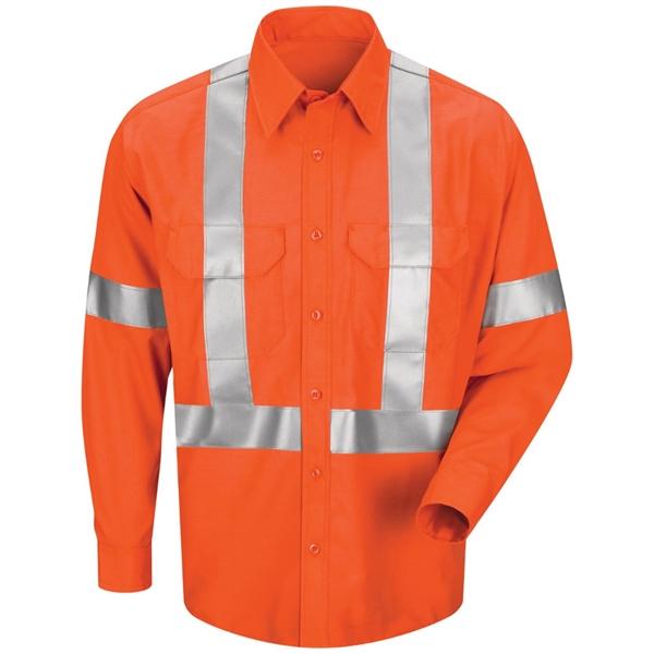 Red Kap Men's Long Sleeve Poplin Dress Shirt With CSA Com...