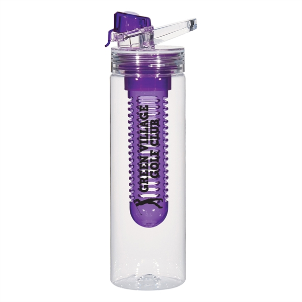 22 Oz. Tritan™ Flavor Infuser Bottle - 22 oz. bottle with screw on lid and carry handle, usable with or without infuser chamber