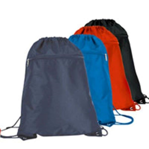 Drawstring Backpack With Zipper
