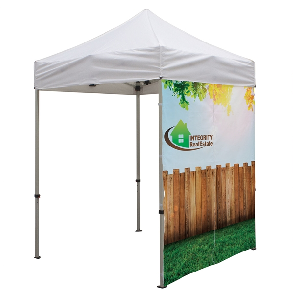 6' Middle Zipper Wall (Dye Sublimated, 1-Sided)