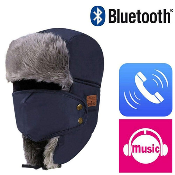 Warm Bluetooth Beanie Hat with Knitted Mask