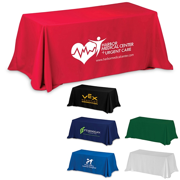 Six' 4-Sided Throw Style Table Covers & Table Throws (F.C.)