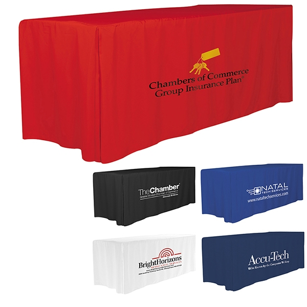 Six' 4-Sided Fitted Style Table Covers & Table Throws