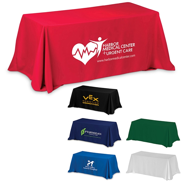 3-Sided Economy Table Covers & Table Throws (Full Color)
