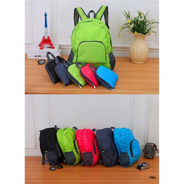 Customize 420D Oxford Fabric Foldable Travel Backpack
