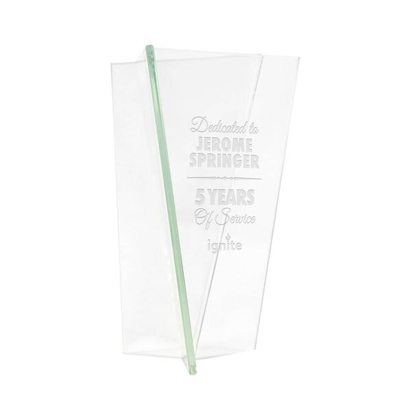 Triangular Vase Jade Glass