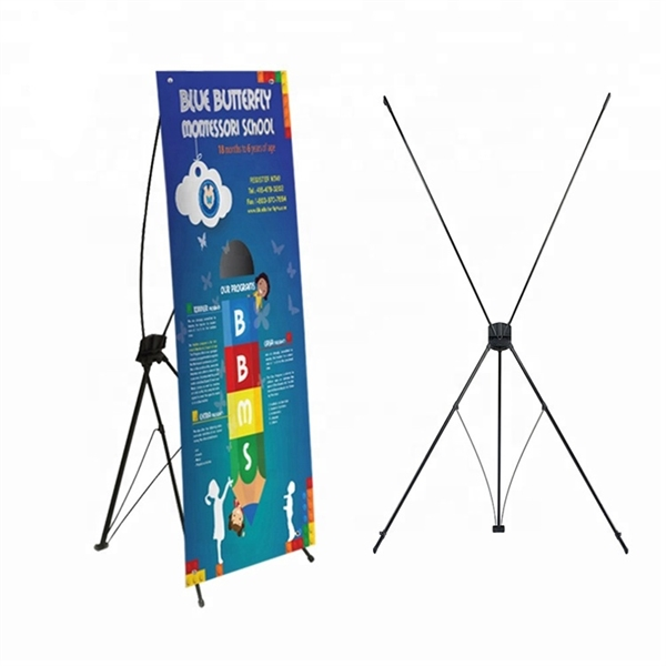 Metal X Banner Stand Display Kit 24