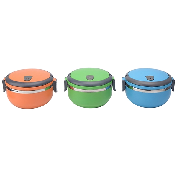 Round Insulated Lunch Box