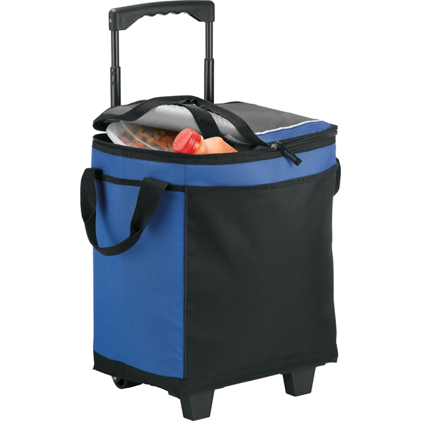 California Innovations® 32 Can Rolling Cooler - California Innovations® 32 Can Rolling Cooler