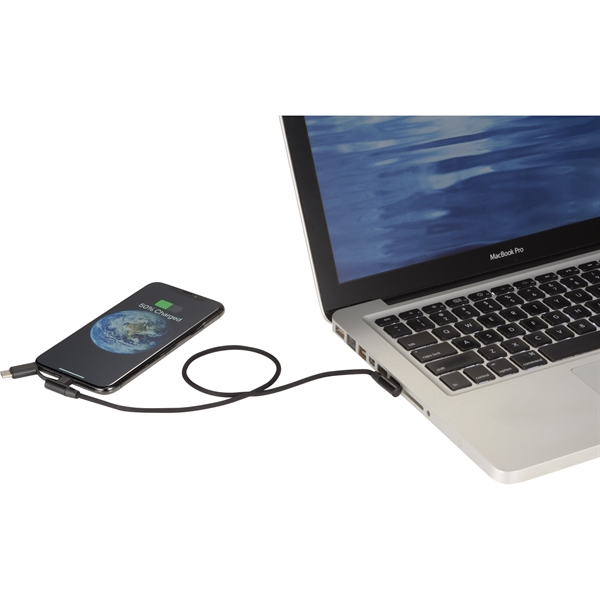 Abruzzo 3-in-1 Charging Cable w/ Pouch
