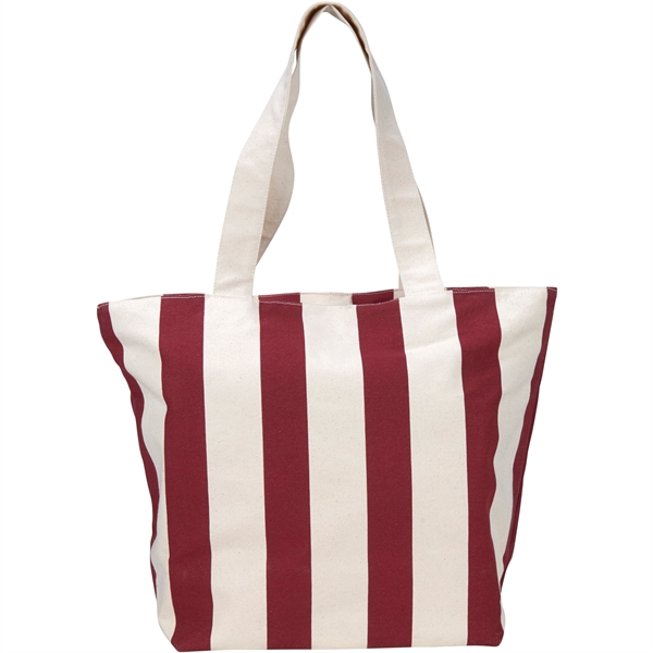 Chandler 12oz Cotton Canvas Zippered Tote