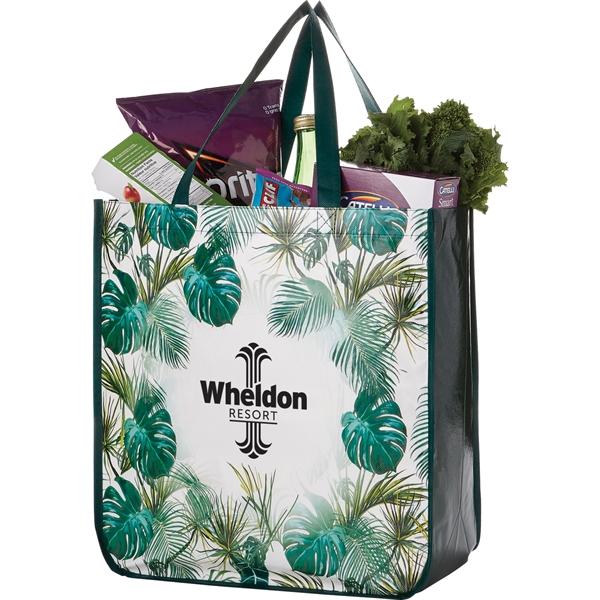 Palms Laminated Shopper Tote