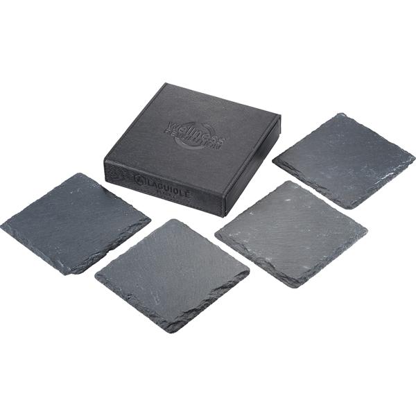 Laguiole Black Slate Coaster Set