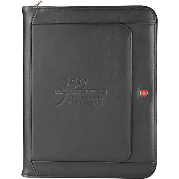 Wenger® Executive Leather Zippered Padfolio