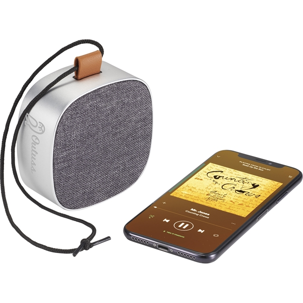 Tahoe Metal & Fabric Waterproof Bluetooth Speaker